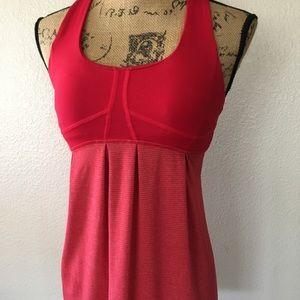 Lululemon red tank top w/ cutout back detail